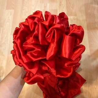 Traditional Wedding Red Ribbon (Hydrangea)