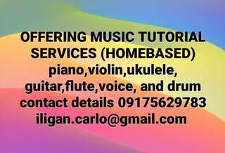 MUSIC TUTORIAL SERVICES