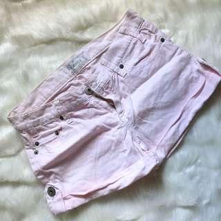 Baby pink Denim shorts