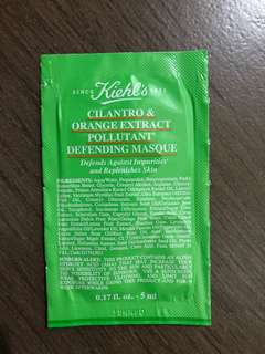 Kiehls cilantro and orange extract pollutan defending masque