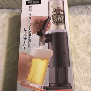 日本家用桌上啤酒打泡機
