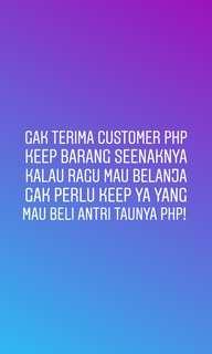 Owner udah empet diphp customer!