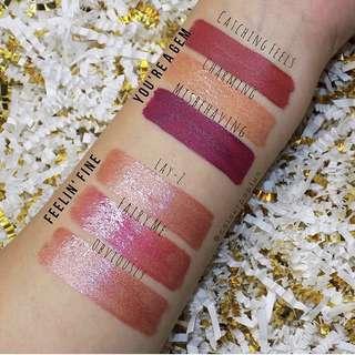 Colourpop x Sephora ultra glossy lip singles - Lay-Z, Obviously, Charming (you're a gem, feelin fine)