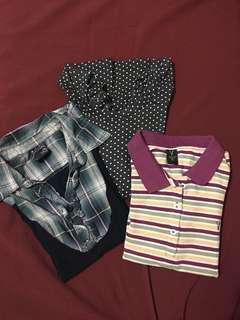 Polo shirts (2), Longsleeves - BUNDLE