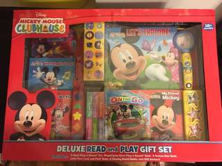 Brand new in box - Mickey Mouse read and play set