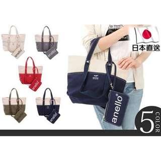 (熱購)日本直送Anello 2 way全棉帆布兩用手挽側揹袋 [5色]