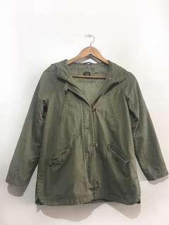 Forever21 green parka jacket