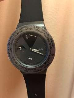 ATOP 世界時區腕錶 VWA-BK 黑色 全新 (原價約1500)