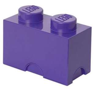 Preloved LEGO brick storage box S - purple