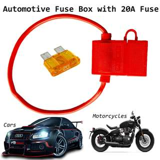 Automotive Fuse Box Rubber Red Color Car Fuse mid with 20A Fuse