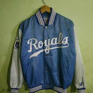 JACKET BASEBALL ROYALS DIAMOND BY STARTER