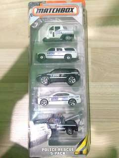 Matchbox 5 Pack Police Rescue Dodge Charger Pursuit