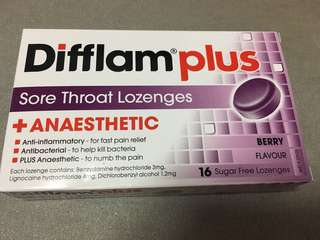 Difflam sore throat lozenges with anaesthetic