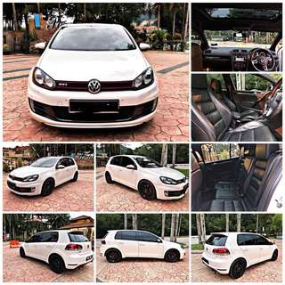 SAMBUNG BAYAR/CONTINUE LOAN  VOLKSWAGEN GOLF MK6 SE 2.0 GTI YEAR 2012/2013 MONTHLY RM 2100 BALANCE 3 YEARS 6 MONTHS ROADTAX VALID SUNROOF TIPTOP CONDITION  DP KLIK wasap.my/60133524312/mk6