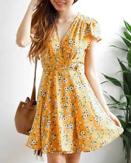 BASH Pure Intentions Floral Self-Tied Dress