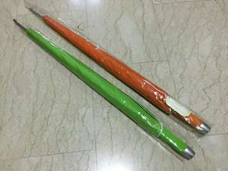 Offer! 2 Brand NEW umbrellas. 85cm length. $6 for both. Text for quick deal!