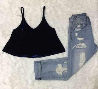 Velvet top