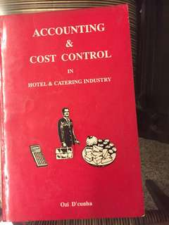 Accounting and Cost Control in Hotel and Catering Industry