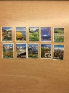 日本郵票 日本瑞士建交150周年