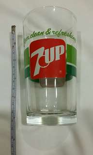 70至80年代7up汽水玻璃杯😁☺😄😀