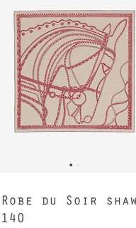 Hermes Cashmere and silk shawl 140x140