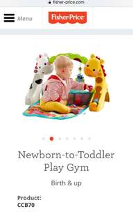 Fisher Price baby to toddler playgym