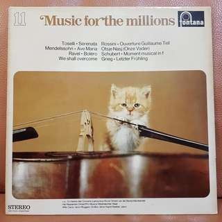 Music For The Millions vinyl record