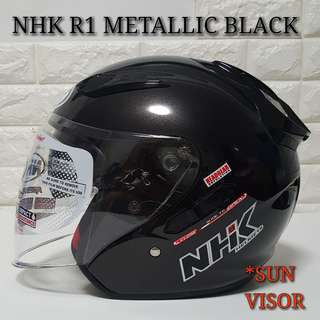 NHK R1 METALLIC BLACK HELMET