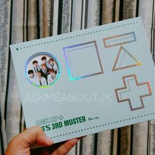 BTS 3rd Muster BluRay (no pc/standee)