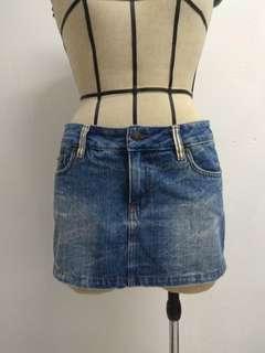 Low Waist Jeans Skirt