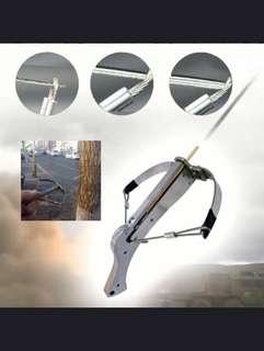 Mini Crossbow Shooting Archery Outdoor Model Metal Ornament