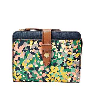🚚 Fossil Fiona's Floral Multifunction Wallet