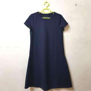 SEED Navy Blue Dress Size S