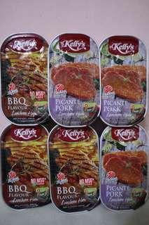 新加坡KELLY's午餐肉(BBQ燒烤味/Bacon煙肉味)