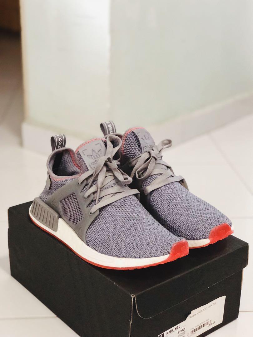 Adidas Nmd Xr1 Grey Three Solar Red Men S Fashion Footwear
