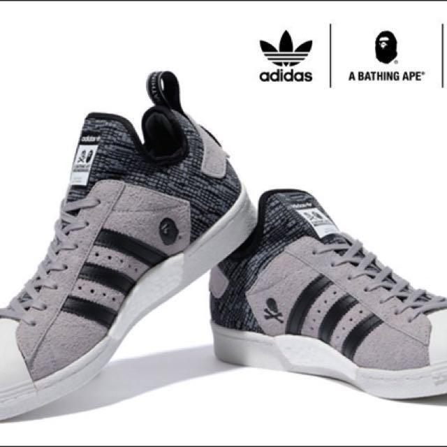 big sale b3c83 bf6a1 Adidas superstar boost bape x neighborhood, Men's Fashion ...