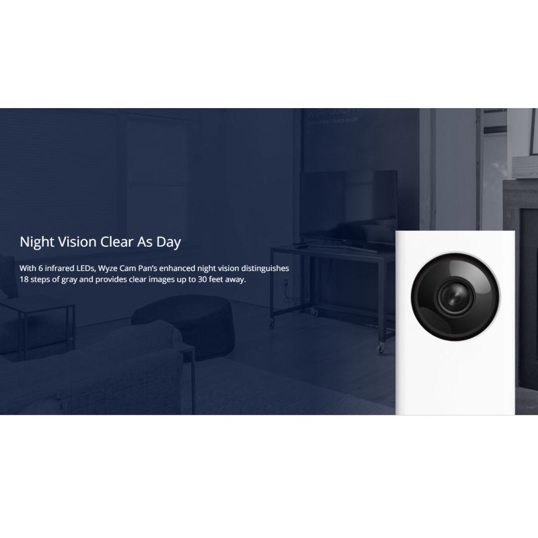 BNIB Wyze Cam Pan 1080p Pan & Tilt HD smart home IP security