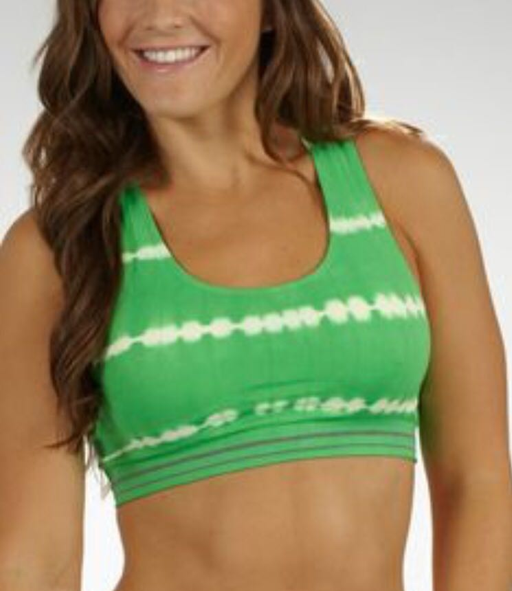 14d3a4632096f BRAND NEW MARIKA TEK SUGAR RAY TIE-DYE SEAMLESS SPORTS BRA - GREEN ...