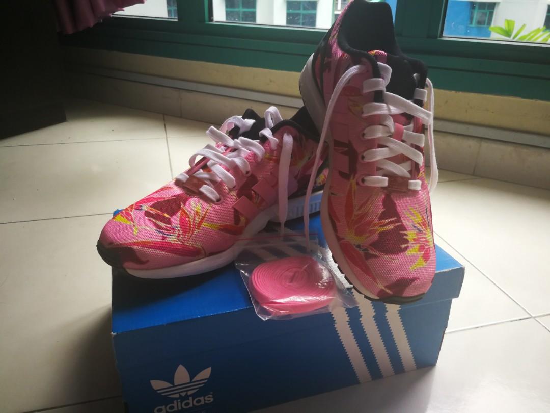 newest 935a2 7a583 *BRAND NEW MEN Adidas Original ZX Flux - Pink Flower Textute