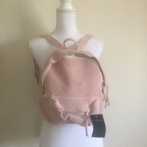 f543d0dd96 Brandy Melville Pink Mini Corduroy Backpack