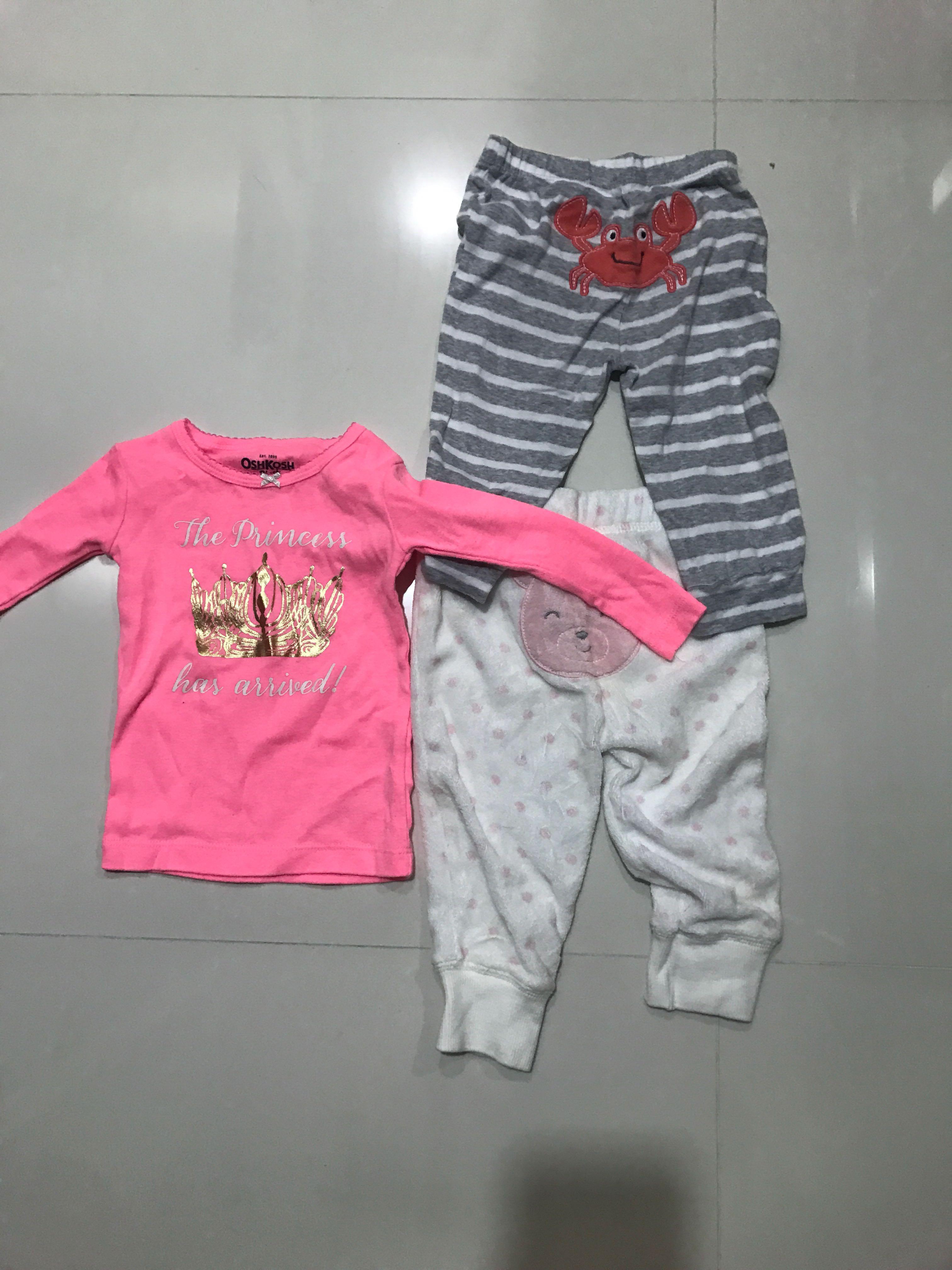 8f5d71017c2 (Bundled) Preloved baby girl carters   osh kosh 12m