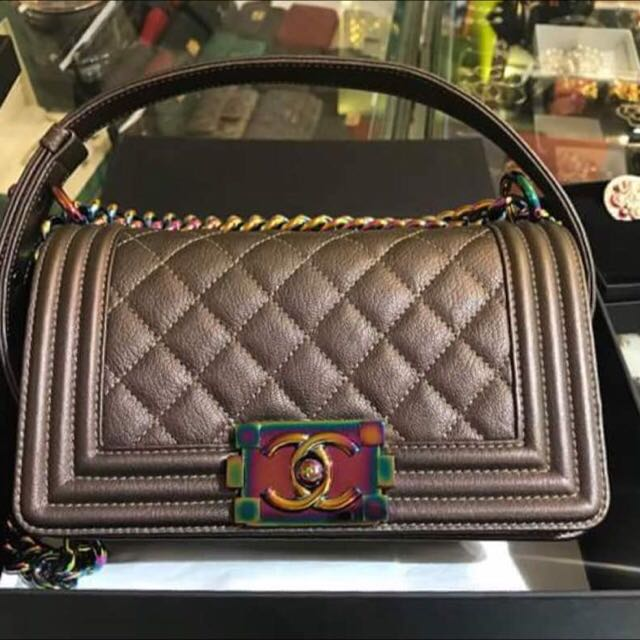 c5150d85dd60 Chanel Boy Iridescent Mermaid 🌈 hardware in Small Size!!, Luxury ...