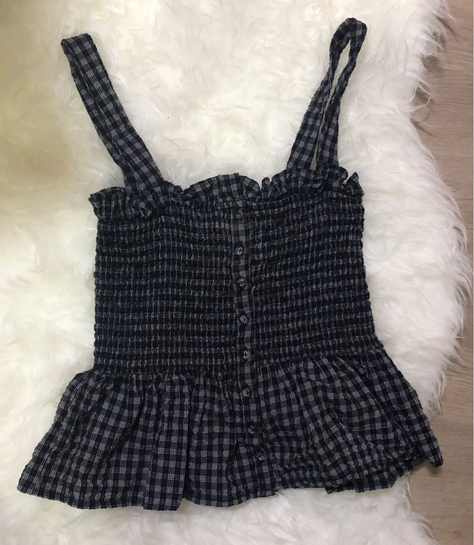 a79dfb31ff Forever 21 Babydoll Top gingham