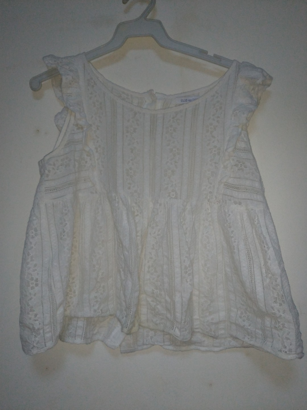 f8f295099b77c0 Lacey White Blouse, Women's Fashion, Clothes, Tops on Carousell