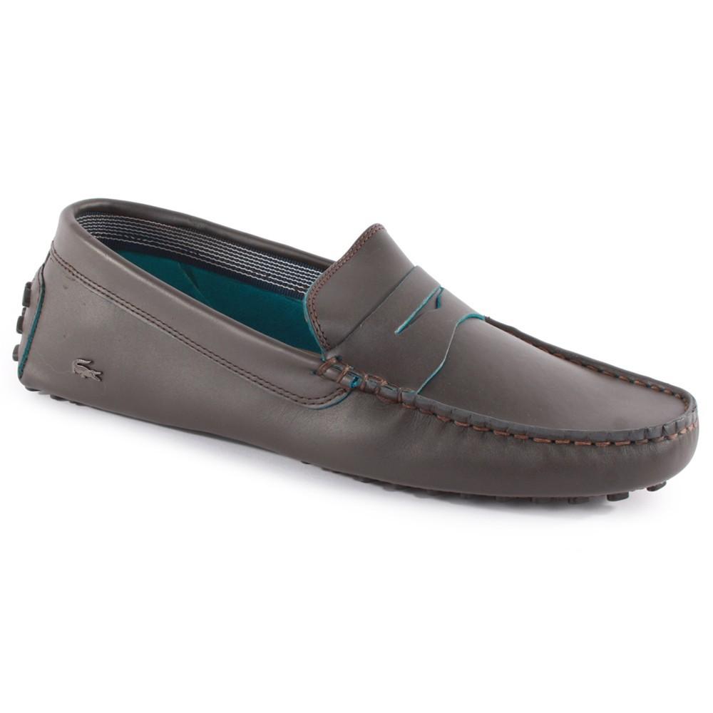 2ecd15c25dc7 Lacoste Concours 10 SRM Leather Dark Brown size US 10.5