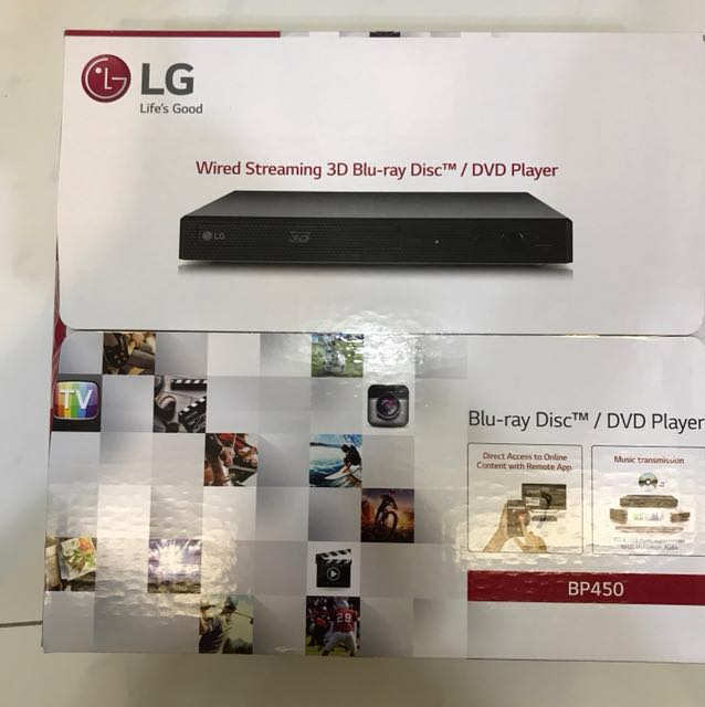 LG Wired Streaming 3D Blu-ray Player / DVD Player
