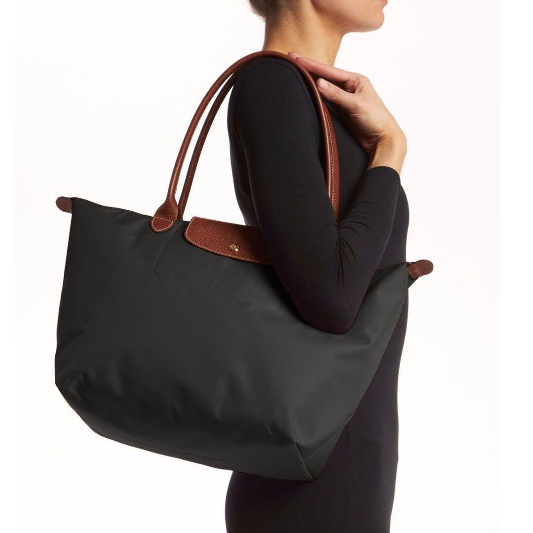 6cef0fdc169 Longchamp Large Le Pliage Tote Bag - Gunmetal Gray