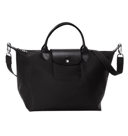 56d84b7470 Longchamp Le Pliage Neo Black Medium Crossbody / Sling Bag, Women's ...