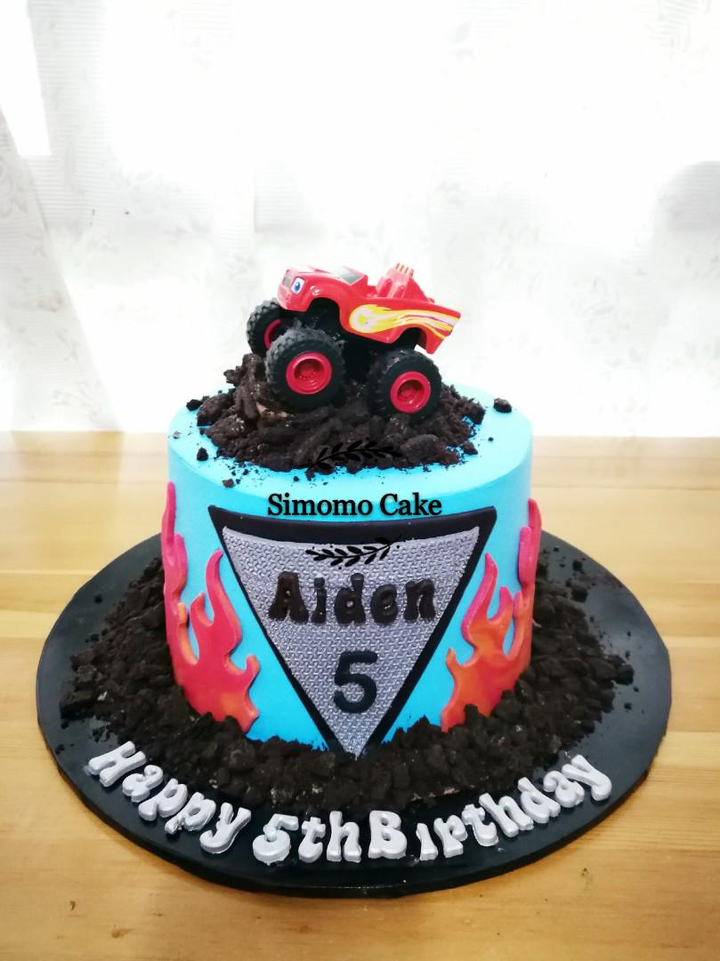 Monster Truck Cake Blaze Monster Truck Free Delivery Food Drinks Baked Goods On Carousell