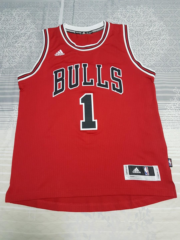 new style 34fa1 54f85 NBA Derrick Rose Bulls Jersey No.1, Sports, Sports Apparel ...
